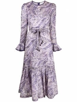 Zimmermann платье миди Brighton с принтом пейсли 9812DBRG