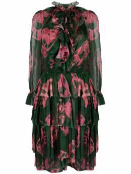 Zimmermann ярусное платье миди Poppy с принтом тай-дай 9902DPOP