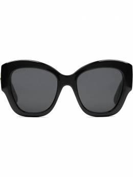 Gucci Eyewear солнцезащитные очки в оправе 'кошачий глаз' с логотипом GG 642985J1691
