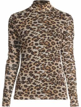 Nicole Miller сетчатый топ с леопардовым принтом CT18197