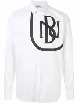 Neil Barrett рубашка на пуговицах с логотипом PBCM1400SP010S