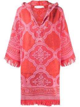 Zimmermann махровое платье Poppy 9386DPOP