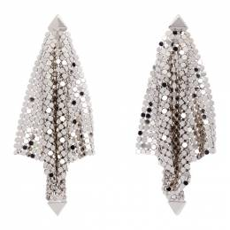 Paco Rabanne Silver Mini Mesh Earrings 19ABB0038MET042