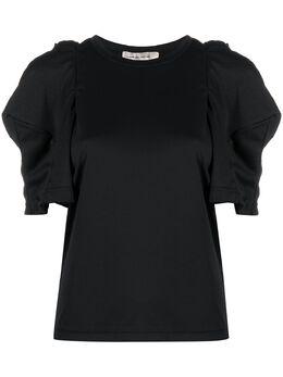 Comme Des Garcons футболка с многослойными пышными рукавами GFT007