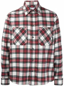 Off-White check arrow logo shirt OMGA133R21FAB0022500