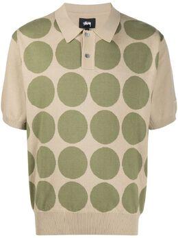 Stussy рубашка поло с геометричным принтом 117080