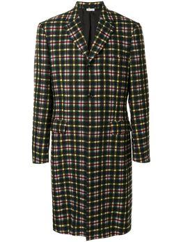 Comme Des Garcons Homme Plus клетчатое пальто длины миди PFJ047
