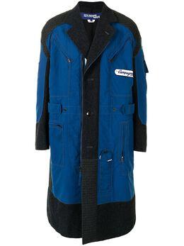 Junya Watanabe Man пальто миди со вставками WFC002