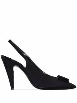 Saint Laurent туфли Anaïs с ремешком на пятке 64178214Q10