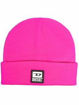 Diesel шапка бини с нашивкой-логотипом A009460NAYP
