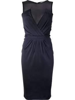 Givenchy Pre-Owned приталенное платье с прозрачной вставкой 8009072