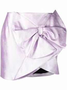 Gina юбка из искусственной кожи с бантом GI200307A