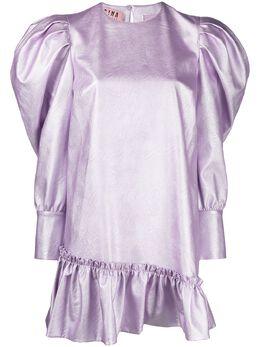 Gina платье из искусственной кожи с пышными рукавами GI200113A