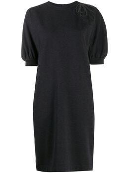 Brunello Cucinelli платье-трапеция с бисером MH827ASC71C055