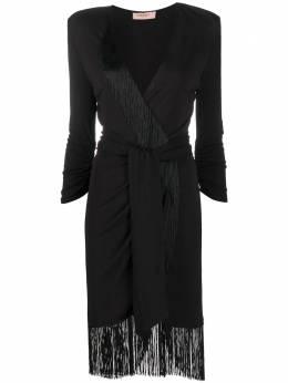 Twin-Set платье с V-образным вырезом и бахромой 202TP2402