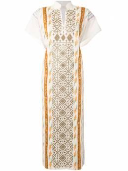 Tory Burch платье-кафтан с лентами 71715