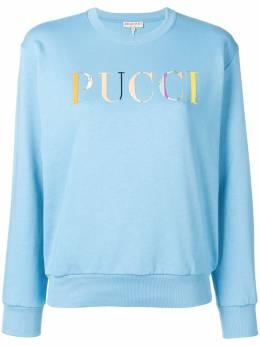 Emilio Pucci свитер с длинными рукавами и логотипом 9EJP849E985