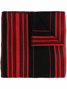 Loewe полосатый шарф с нашивкой-логотипом K810230X10