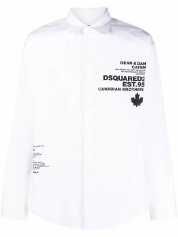 Dsquared2 logo-print shirt S74DM0520S36275