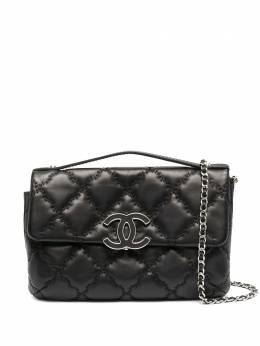 Chanel Pre-Owned стеганая сумка на плечо 2014-го года с логотипом CC CHA3500F