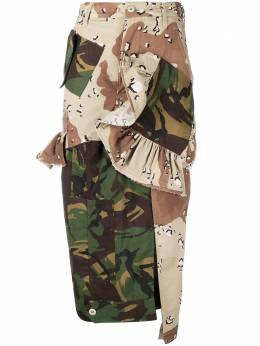 Preen By Thornton Bregazzi patchwork camouflage-print pencil skirt 040309