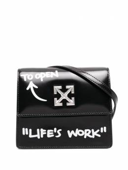 Off-White 0.7 Quote Jitney shoulder bag OWNA093R21LEA0021001