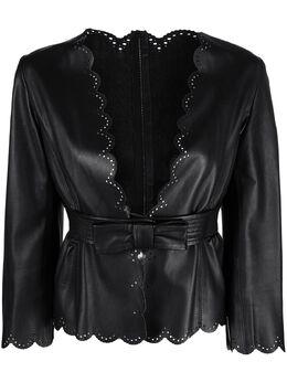 Valentino Pre-Owned куртка с фестонами и поясом CVB20461