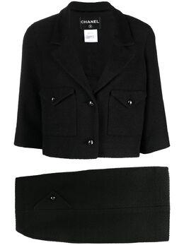 Chanel Pre-Owned костюм с однобортным пиджаком и юбкой CVB206656