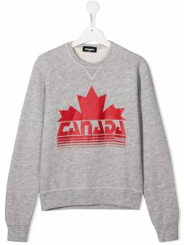 Dsquared2 Kids толстовка Canada с логотипом DQ049SD00CD