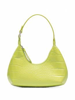 By Far сумка на плечо Amber с тиснением под крокодила 21CRBASMTCDSMA