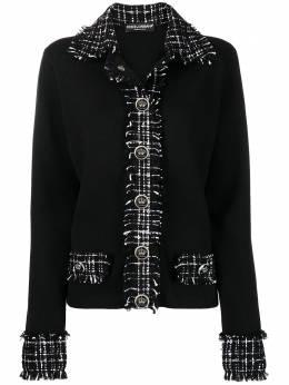 Dolce&Gabbana джемпер с твидовыми вставками FX837TJAM2V