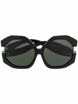 Linda Farrow солнцезащитные очки в массивной оправе с вырезами LFL1071C1SUN