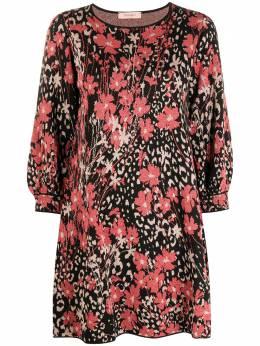 Twin-Set платье-трапеция с цветочным принтом 202TP3401