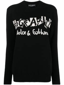 Dolce&Gabbana logo-embroidered knitted jumper FX833ZJAW4O