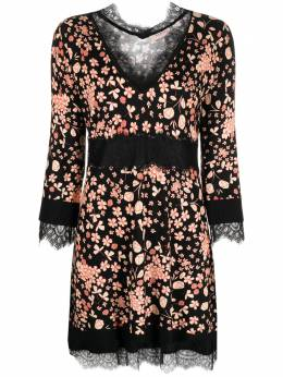 Twin-Set платье с кружевом и цветочным принтом 202TP3502
