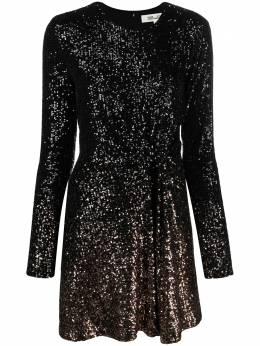 Dvf Diane Von Furstenberg платье мини с пайетками и драпировкой 15604