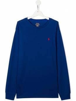 Ralph Lauren Kids футболка с вышитым логотипом и длинными рукавами 323703642