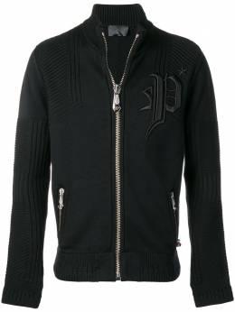 Philipp Plein спортивная куртка с вышитым логотипом MKB0040PKN002N