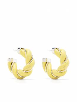 Bottega Veneta twist hoop earrings 628948V507C