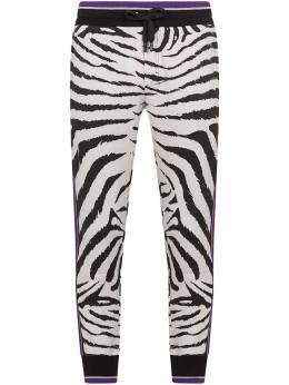 Dolce&Gabbana спортивные брюки с зебровым принтом GW0QATHS7BR