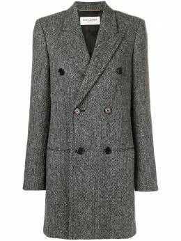 Saint Laurent chevron double-breasted coat 514595Y943J