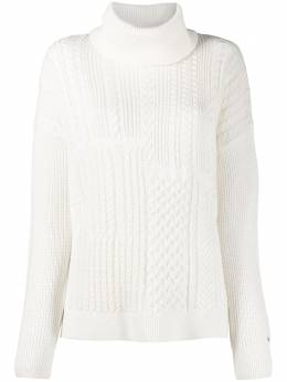 Tommy Hilfiger panelled cable knit jumper WW0WW28871