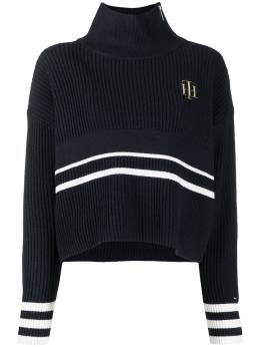 Tommy Hilfiger intarsia-logo ribbed knit jumper WW0WW29125