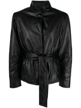 Gina куртка из искусственной кожи с поясом GI202001A