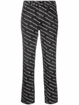 Alexander Wang all-over logo-print flared trousers 4DC1214892