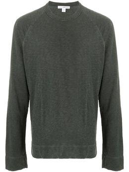 James Perse футболка тонкой вязки с длинными рукавами MXA3278