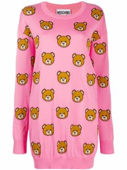 Moschino трикотажное платье Teddy Bear V04860502