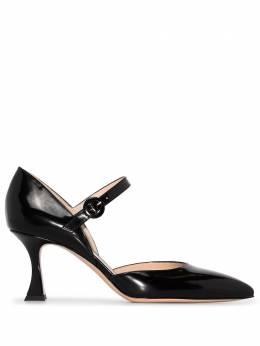 Gianvito Rossi Black 70 leather Mary Jane pumps G4022770RICSMA