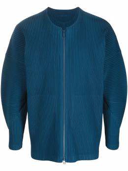Homme Plisse Issey Miyake плиссированная куртка без воротника HP08JL116