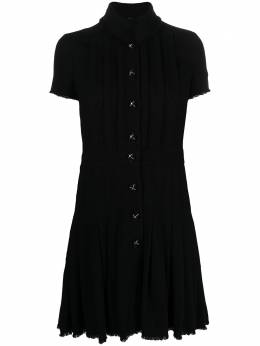 Chanel Pre-Owned stand-up collar pleated dress CVB206657